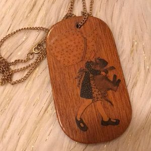 True vintage holly hobbie necklace